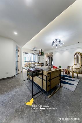 温馨109平北欧四居客厅装修设计图四居及以上北欧极简家装装修案例效果图