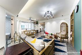 温馨127平北欧四居客厅美图四居及以上北欧极简家装装修案例效果图