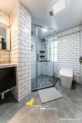 明亮144平北欧四居卫生间装饰美图四居及以上北欧极简家装装修案例效果图