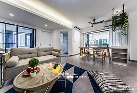 精美111平北欧四居客厅实景图片四居及以上北欧极简家装装修案例效果图