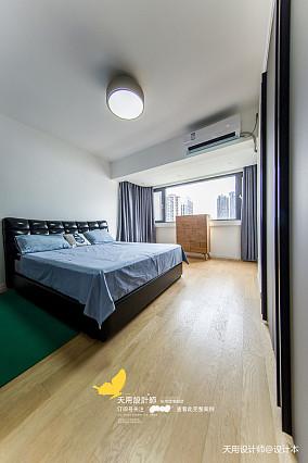 温馨146平北欧四居卧室实景图片四居及以上北欧极简家装装修案例效果图