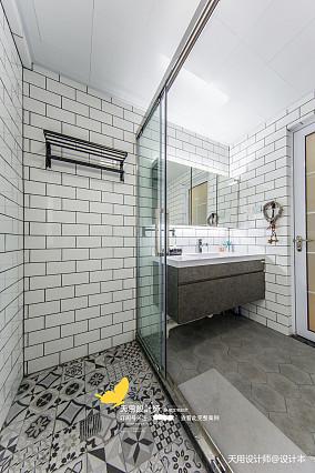 优美135平北欧四居卫生间图片欣赏四居及以上北欧极简家装装修案例效果图