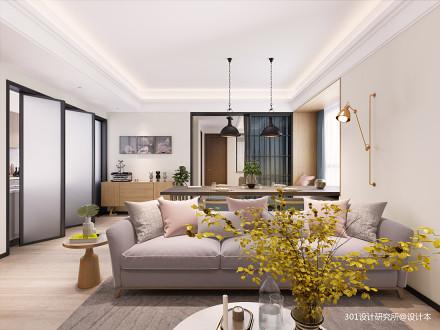 华丽235平北欧复式客厅美图复式北欧极简家装装修案例效果图