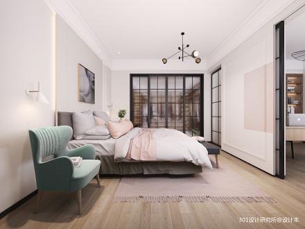 典雅63平北欧复式卧室布置图
