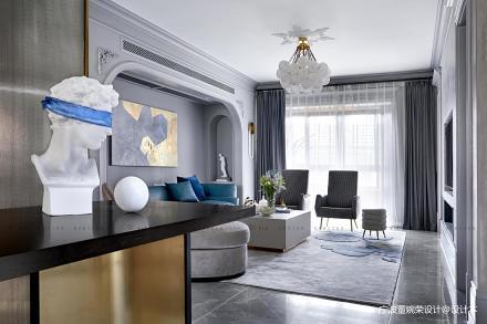 浪漫155平混搭四居客厅装饰图片