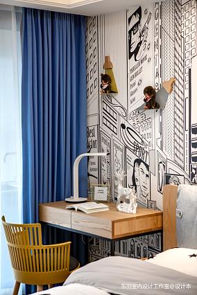 简致北欧三居儿童房书桌设计