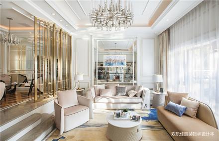 欧式私宅,柔美展现家居的奢华与舒适_3540000别墅豪宅北欧极简家装装修案例效果图