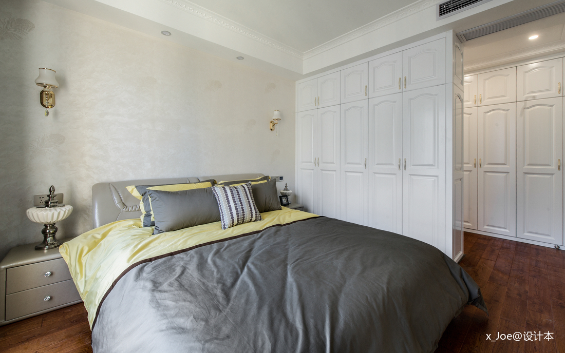簡潔98平歐式四居臥室裝修案例臥室歐式豪華臥室設計圖片賞析