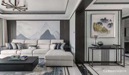 明亮137平中式四居客厅装修图