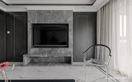 优雅102平中式四居客厅装饰美图