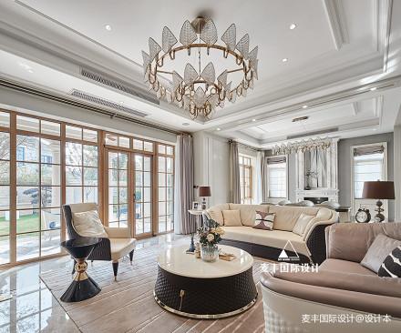 轻奢混搭豪宅客厅设计图别墅豪宅潮流混搭家装装修案例效果图