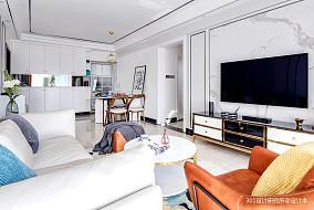 温馨95平现代三居客厅效果图