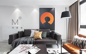 华丽57平现代二居设计效果图