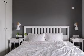 居逸北欧风主卧室实景图卧室北欧极简卧室设计图片赏析