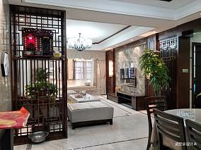温馨75平中式三居客厅装修设计图