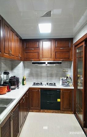 温馨129平中式三居厨房实拍图