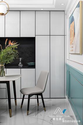 温馨110平美式四居餐厅布置图厨房设计图片赏析