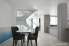 质朴223平现代别墅餐厅布置图