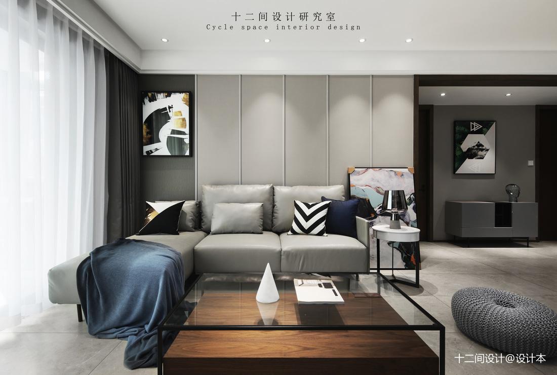 精致86平现代三居卧室装修图客厅现代简约客厅设计图片赏析