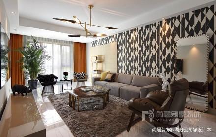 美式风格混搭装修实景案例_3544572151-200m²别墅豪宅潮流混搭家装装修案例效果图