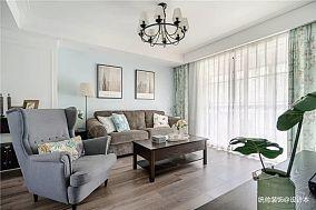 精致90平地中海三居客厅装修案例