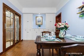 华丽75平美式二居餐厅实景图片二居美式经典家装装修案例效果图