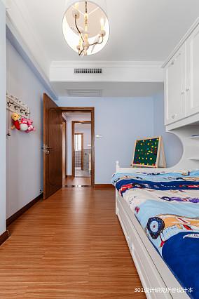 轻奢55平美式二居儿童房装潢图二居美式经典家装装修案例效果图