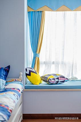 典雅86平美式二居卧室设计图二居美式经典家装装修案例效果图