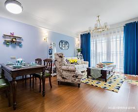 悠雅82平美式二居客厅装饰图片二居美式经典家装装修案例效果图