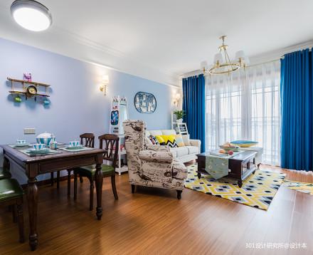 悠雅82平美式二居客厅装饰图片