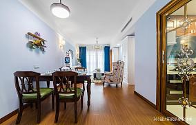 轻奢89平美式二居客厅实景图二居美式经典家装装修案例效果图