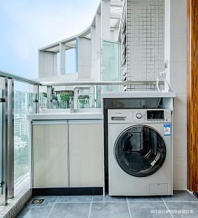 优美75平美式二居阳台设计图二居美式经典家装装修案例效果图