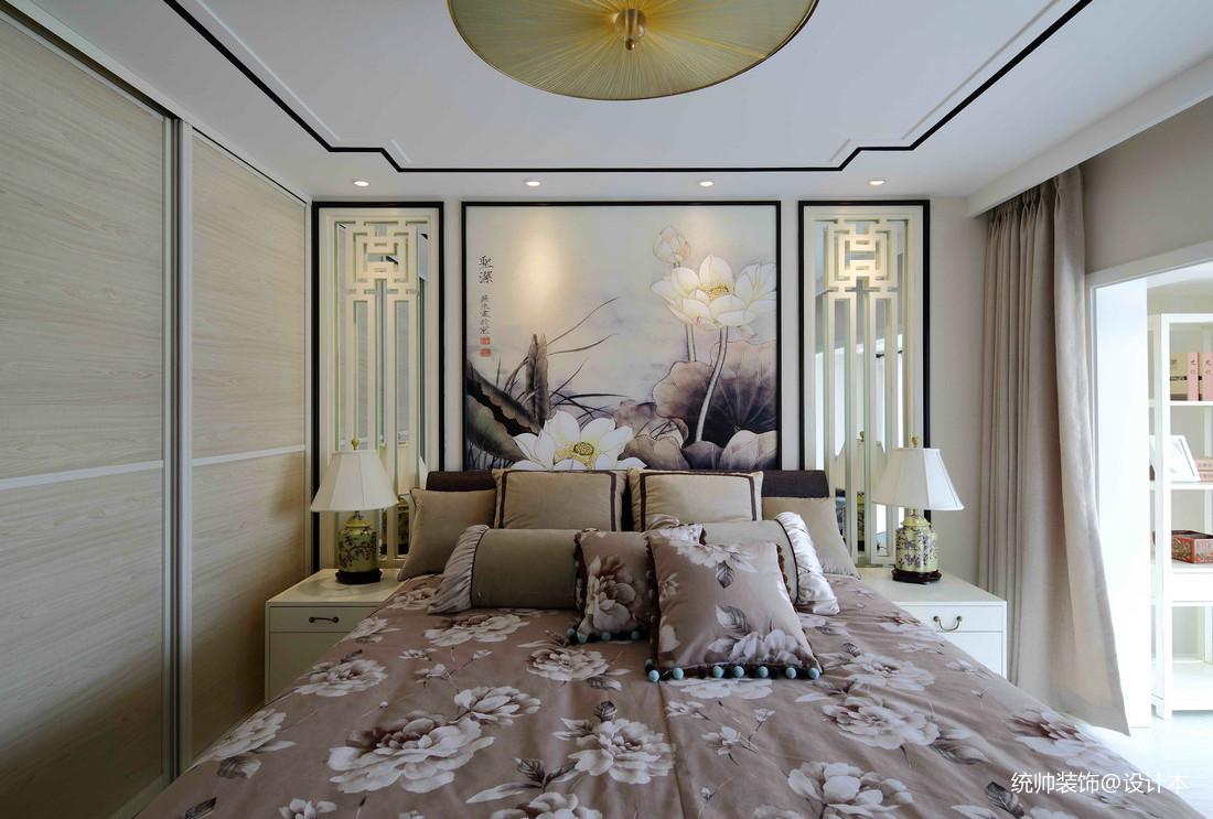 质朴41平中式复式卧室效果图卧室中式现代卧室设计图片赏析