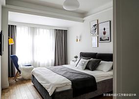 田郑家园北欧风主卧室设计卧室北欧极简卧室设计图片赏析