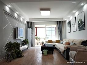 2019135平现代四居客厅设计案例