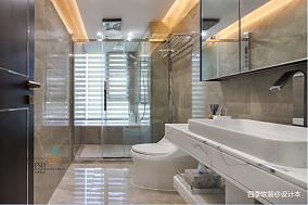 简洁100平中式四居卫生间装修案例四居及以上中式现代家装装修案例效果图
