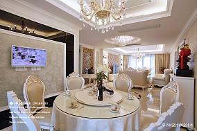 简洁124平欧式四居餐厅装饰图片