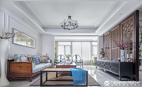 50万180㎡中式现代家装装修效果图