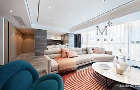 优美87平现代二居设计案例二居现代简约家装装修案例效果图