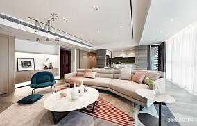 优雅74平现代二居效果图二居现代简约家装装修案例效果图