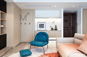 优雅78平现代二居效果图片大全二居现代简约家装装修案例效果图