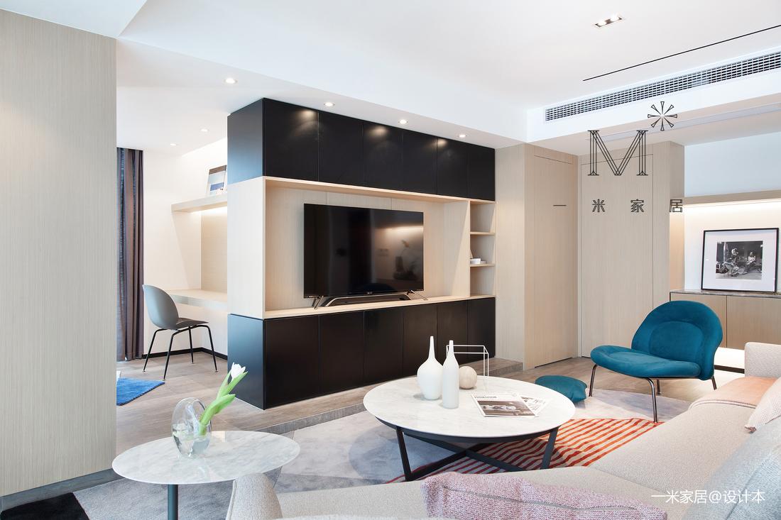 170㎡现代二居背景墙设计客厅现代简约客厅设计图片赏析