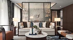 大气180平中式四居客厅实景图片