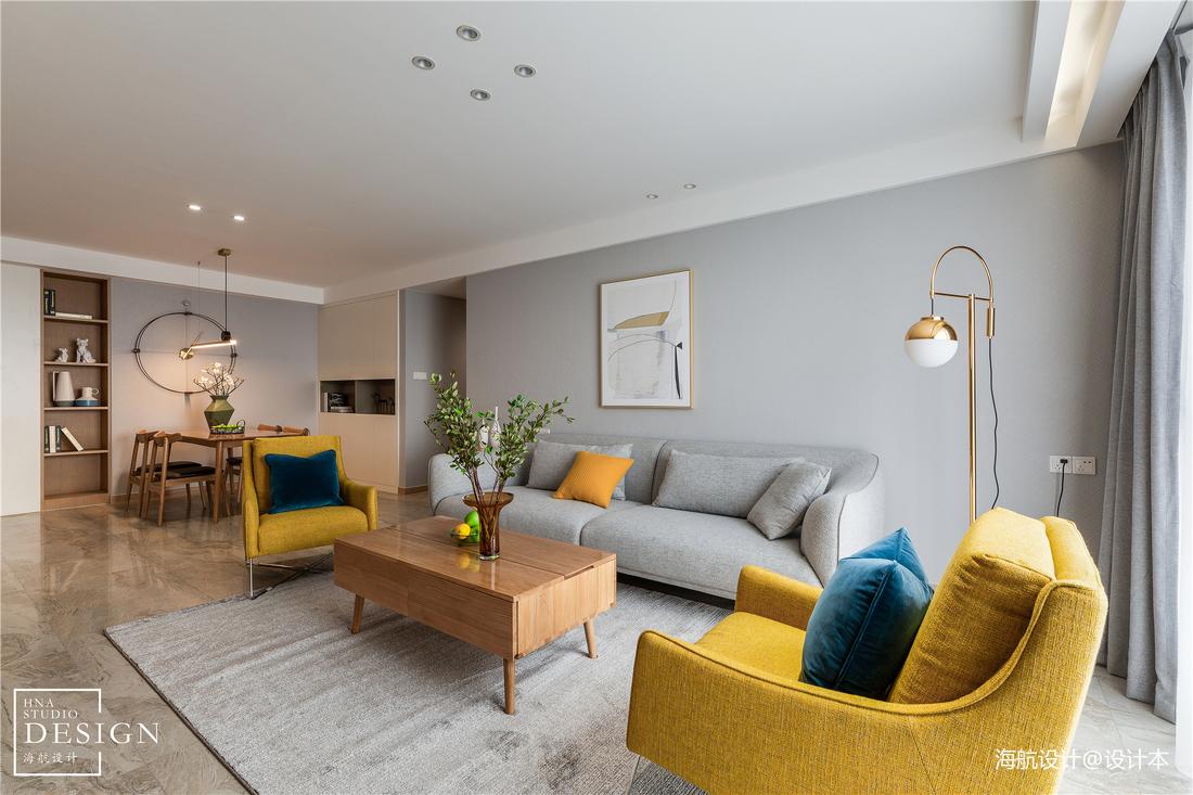 简单北欧风客厅实景图片客厅沙发北欧极简客厅设计图片赏析