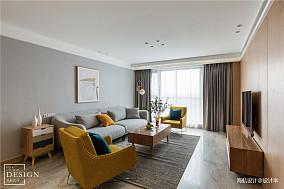 温馨127平北欧三居客厅布置图