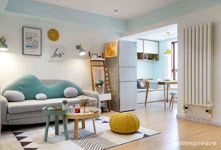 奇葩小户型混搭客厅设计图