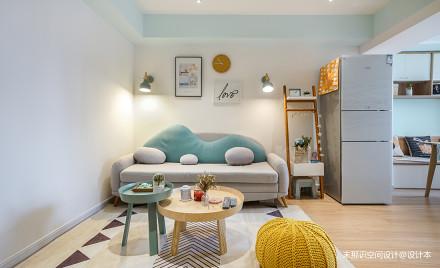 奇葩小户型混搭客厅沙发图一居潮流混搭家装装修案例效果图