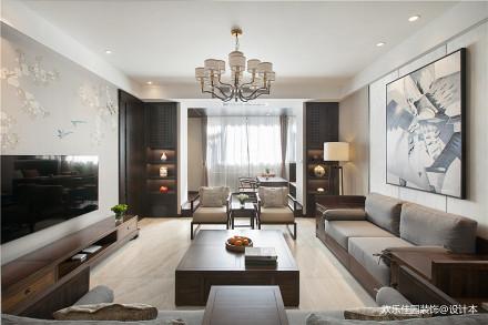 中式四居客厅吊灯图片