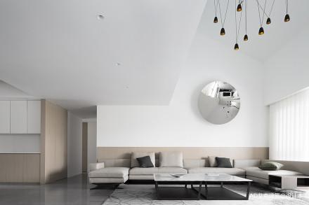 精致230平现代复式客厅设计效果图复式现代简约家装装修案例效果图