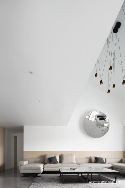 201968平现代复式客厅装修效果图